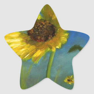 froml hand painted wild oklahoma flower star sticker