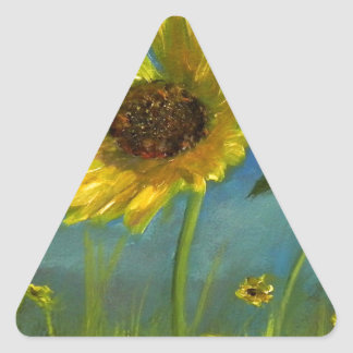 froml hand painted wild oklahoma flower triangle sticker