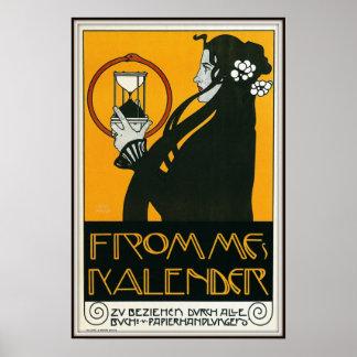 Fromme's Kalender by Koloman Moser, 1899 Poster