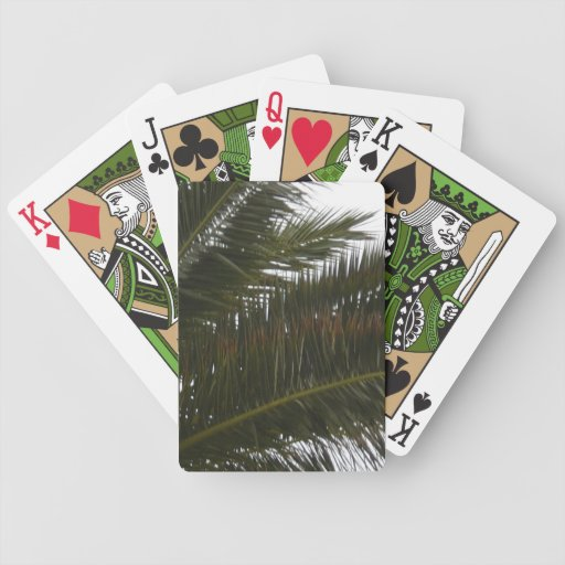 Frondas de la palma baraja de cartas