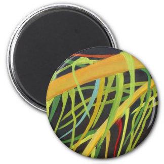 Frondas de la palma imán redondo 5 cm