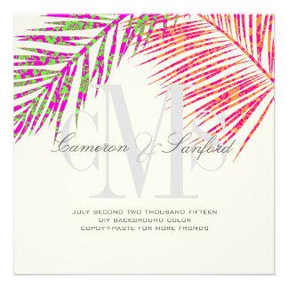 Frondas del hula de PixDezines color de fondo diy+ Invitaciones Personalizada