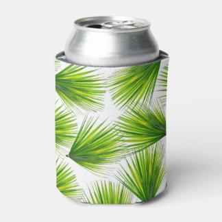 Frondas hawaianas exóticas tropicales de la palma enfriador de latas