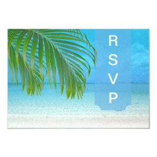 """Frondas/playa de la palma del rsvp de PixDezines Invitación 3.5"""" X 5"""""""