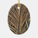 Frondas secadas de la palma ornamentos de navidad