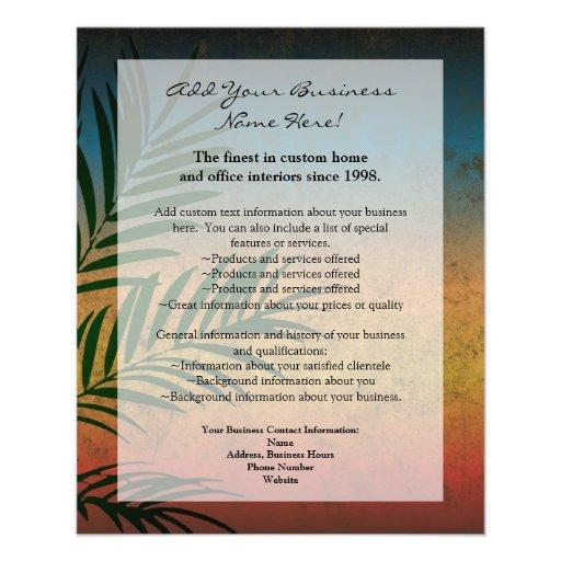 Frondas tropicales de la palma de la puesta del tarjetones