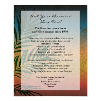 """Frondas tropicales de la palma de la puesta del folleto 4.5"""" x 5.6"""""""