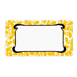 Frondoso amarillo etiquetas de envío