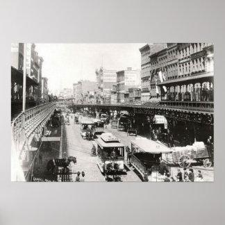 Frondoso en el poster 1895 de New York City del Ca