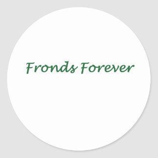 Fronds Forever Classic Round Sticker