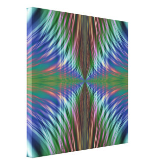Fronds Fractal Design Canvas Print