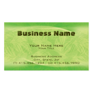 fronds in flight ~ bc business card