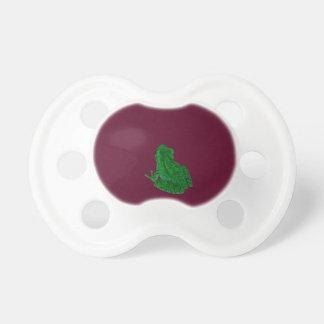 frong colorized verde contra Borgoña Chupetes Para Bebes