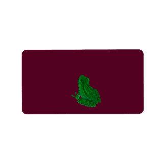 frong colorized verde contra Borgoña Etiqueta De Dirección