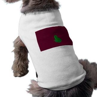 frong colorized verde contra Borgoña Camiseta De Perro