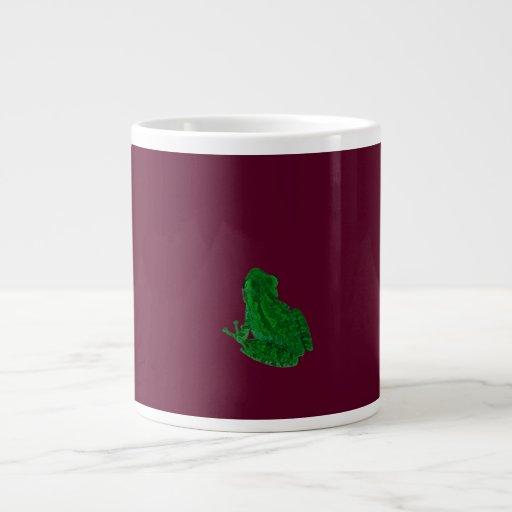 frong colorized verde contra Borgoña Taza Grande