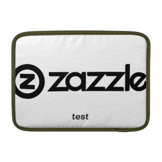 front and back horizontal template test sleeve for MacBook air