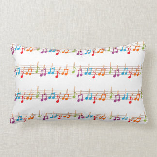 *FRONT AND BACK* MUSICAL NOTES 2 SIDED PILLOW