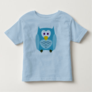 Front and back owl toddler t-shirt