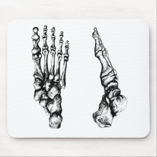 Front and side view of bones of the feet mouse pad