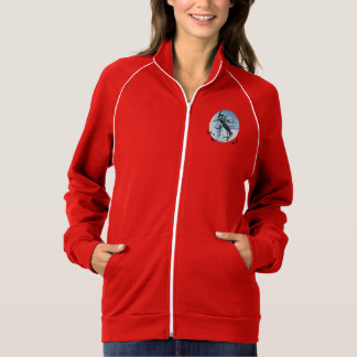 Front / back A witch on her broomstick at midnight Track Jacket