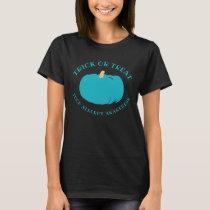 Front Back Allergy Awareness Halloween Trick Treat T-Shirt