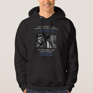 front/back JFK OBAMA, American Spirit speech quote Hoodie