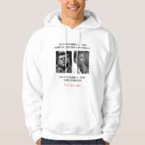"""FRONT/BACK JFK to OBAMA/ part JFK """"Ask not"""" speech Hoodie"""