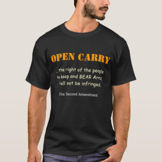 FRONT & BACK - Open Carry not Reasonable Suspicion T-Shirt