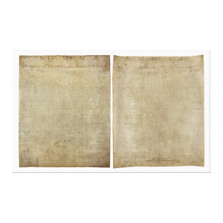 Front Back ORIGINAL Declaration of Independence Gallery Wrapped Canvas