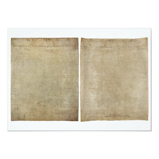 Front & Back ORIGINAL Declaration of Independence Card
