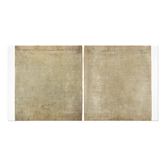 Front & Back ORIGINAL Declaration of Independence Photo Card Template