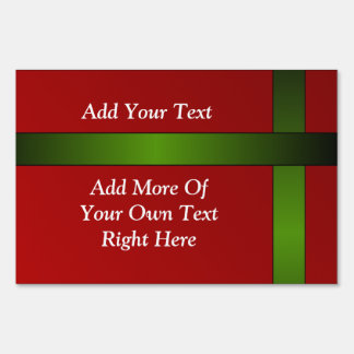 Front & Back Red and Green Message Sign