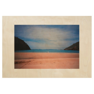 Front Beach Bliss Wood Poster