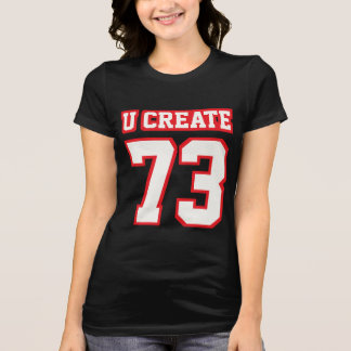 Front BLACK WHITE RED Womens Bella Favorite Jersey T-Shirt