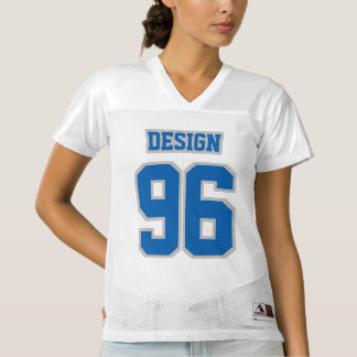 Front BLUE SILVER GRAY WHITE Women Football Jersey