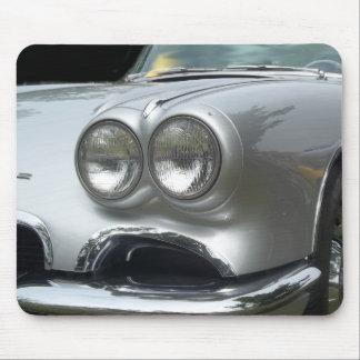 Front bumper view of a classic corvette mouse pad