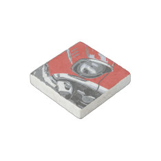 Front Car Color Stone Magnet at Zazzle