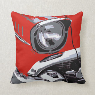 Front car color throw pillow
