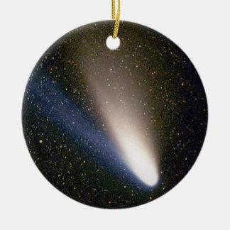 Front: Comet Hale  Bopp - Back: Comet Neat Ceramic Ornament