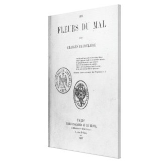Front Cover, First Edition of 'Les Fleurs du Canvas Print