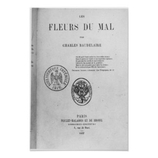 Front Cover, First Edition of 'Les Fleurs du Poster