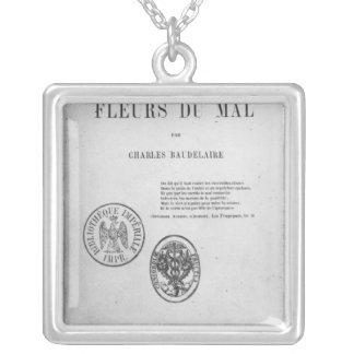 Front Cover, First Edition of 'Les Fleurs du Square Pendant Necklace