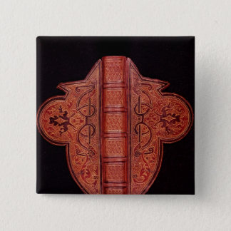 Front cover of a Book of Hours in Latin Pinback Button