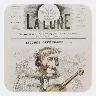 Front cover of 'La Lune' Square Sticker