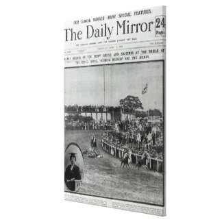 Front cover of 'The Daily Mirror' Canvas Print