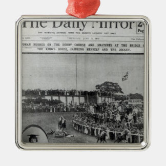 Front cover of 'The Daily Mirror' Metal Ornament
