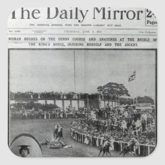 Front cover of 'The Daily Mirror' Square Sticker