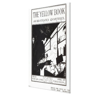 Front cover of the prospectus for 'The Yellow Book Canvas Print