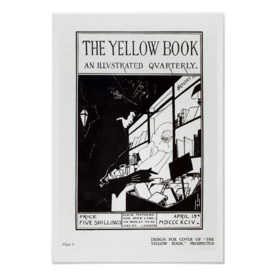 Front cover of the prospectus for 'The Yellow Book Poster